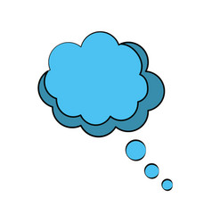 Think bubble speakbox vector