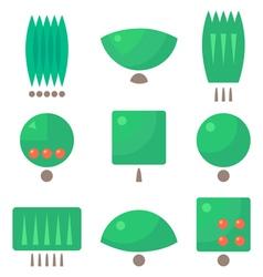 Tree logos vector image