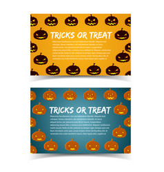 Tricks or treat colorful horizontal banners vector