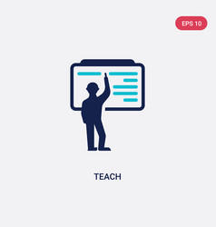 Two color teach icon from education concept vector
