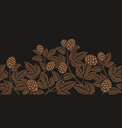vintage seamless hop pattern a decoration for vector image