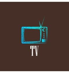 Vintage with a retro tv vector