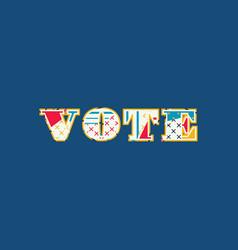 Vote concept word art vector