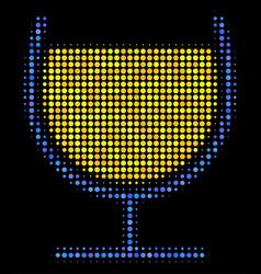 wine glass halftone icon vector image