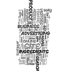 your recipe for online success text word cloud vector image