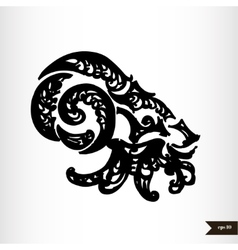 Zodiac signs black and white - Capricorn vector image