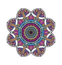 Acid color ethnic aztec tribal mandala pr vector image vector image
