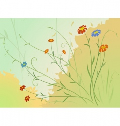 autumn flowers vector image vector image
