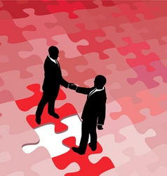 business partners vector image vector image