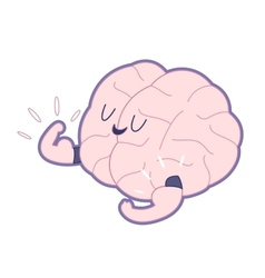Champion outlined Train your brain vector image
