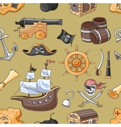 Doodle pattern set of pirates vector image vector image