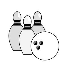 figure bowling pin ball icon vector image vector image