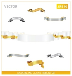 modern and classic ribbons set vector image vector image