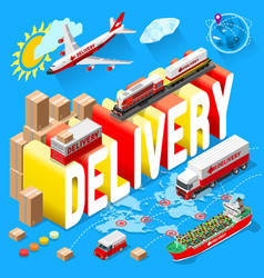 banner for delivery services and web e-commerce vector image vector image