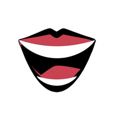 mouth lips comic image vector image vector image