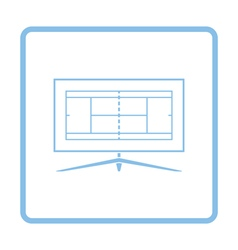 Tennis TV translation icon vector image vector image