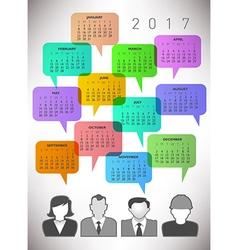 2017 Creative Icon People Calendar vector image vector image