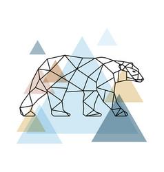 abstract geometric bear vector image vector image