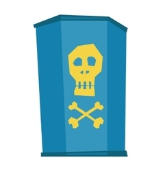 Barrel with skull and bones vector image