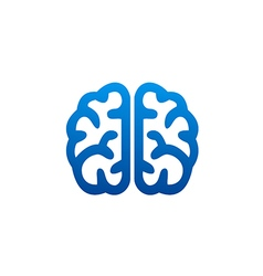 brain abstract knowledge science logo vector image