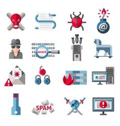 Hacker icons set vector