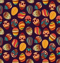 Happy Easter Happy holiday eggs pattern vector image