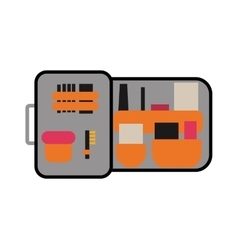 Toolbox with instruments construction work vector