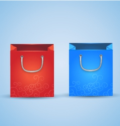 2 Shopping Bags vector image vector image