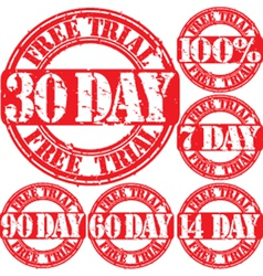 30 day trial stamp vector