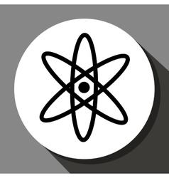 Atom round icon vector image