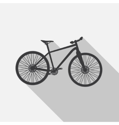 Bicycle Icon wih Long Shadow vector image