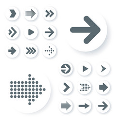 flat design icon set vector image vector image