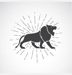 lion on white background animal lion symbol vector image