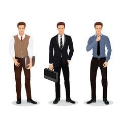 men in stylish clothes set of businessmen vector image vector image