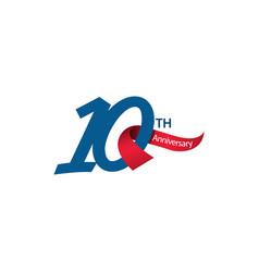 10 th anniversary template design vector