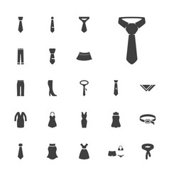 22 dress icons vector
