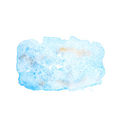 abstract blue watercolor stains vector image