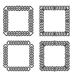 abstract frames set grayscale vector image vector image