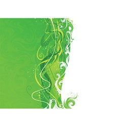 Abstract green and white wavy background vector image