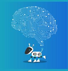 ai dog robot with mechanism vector image