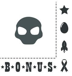 Alien head icon vector