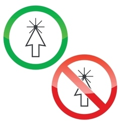 Arrow cursor permission signs set vector