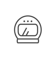 Astronaut helmet line outline icon vector