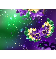 Background with Fluffy Masks vector image
