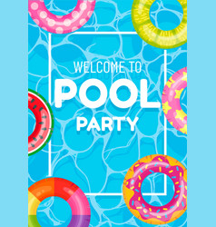 banner poster invitation to pool party vector image