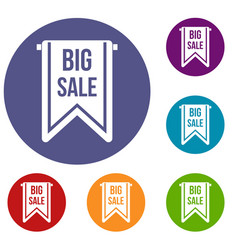 Big sale banner icons set vector