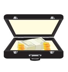 Black case with money vector image