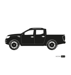 Black silhouette of suv drawing of car vector