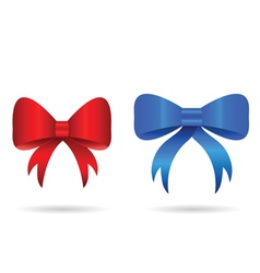 bow in red and blue color vector image