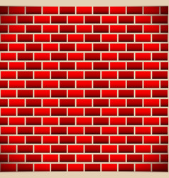 Brickwall tileable brick background vector